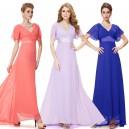 Okouzlující společenské, plesové dámské šaty s rukávky 9890 - 8 barev