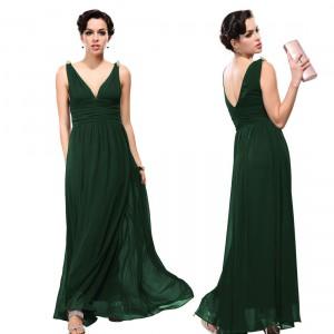 Nebesky jemné společenské šaty Ever Pretty 9016 lahvově zelené