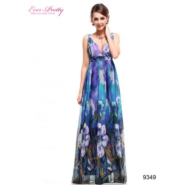8c405a4faa Fantastické letní květinové dámské šaty Ever Pretty 9349 - fialové ...
