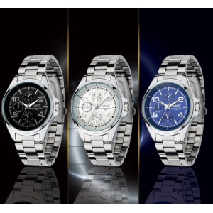 Pánské stylové sportovní kovové náramkové hodinky - 3 varianty