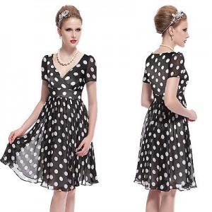 Dámské společenské šaty s puntíky Ever Pretty 3933