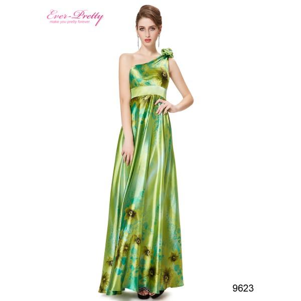 b35fd7b6ebb Sexy zelené společenské dámské šaty Ever Pretty na jedno rameno 9623 ...