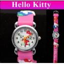 Dětské, dívčí, silikonové hodinky s kočičkou Hello Kitty - 4 barvy