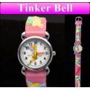 Dětské, dívčí, silikonové hodinky s vílou Tinkerbell - růžové