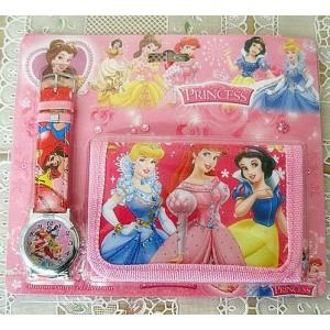 Dětské, dívčí hodinky Princezny + peněženka TIP na dárek