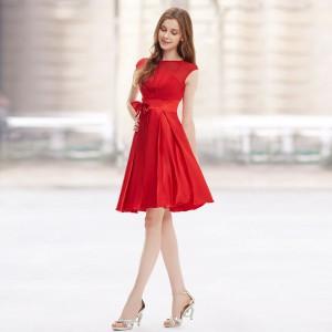 33d8a15577e Dámské koktejlové šaty se skládanou sukní a mašlí - 8 barev - Angel ...