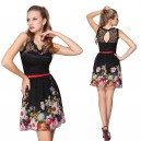 Černé dámské společenské šaty s potiskem květin Ever Pretty 3662