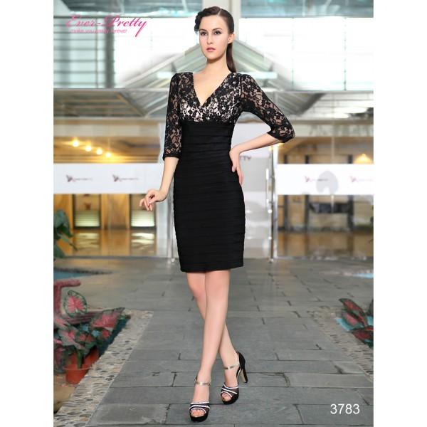 Dámské koktejlové šaty s krajkou a 3 4 rukávy Ever Pretty 3783 - 4 barvy 27b3207948