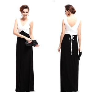 Elegantní společenské šaty Ever Pretty 9051 - černobílé