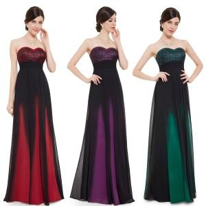 Luxusní společenské korzetové dámské šaty 8070 - červené, fialové, zelené