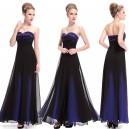 Luxusní společenské korzetové dámské šaty 8070 - modré