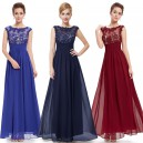 Elegantní společenské šaty s krajkou v dekoltu 8441 - 4 barvy