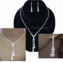 Luxusní set - štrasový náhrdelník + náušnice