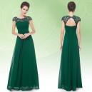 Elegantní společenské šaty s krajkou v dekoltu 9993 - 7 barev