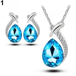 Dámský set - náhrdelník + náušnice Swarovski krystal - 6 barev