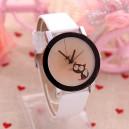 Roztomilé dámské, dívčí  hodinky s kočičkou a pavoučkem