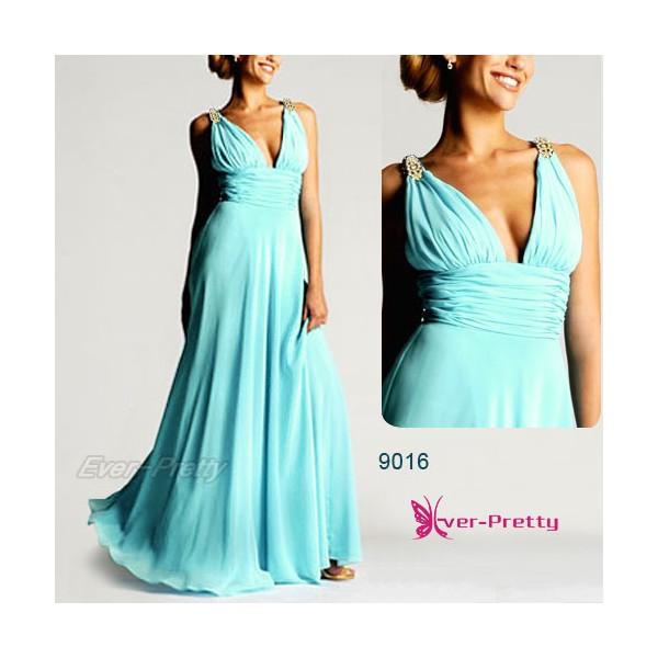 Nebesky jemné společenské šaty Ever Pretty 9016 - 15 barev - Angel ... ef27de89dc