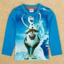 Dětské chlapecké tričko, triko s dlouhým rukávem modré Frozen