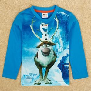 Dětské chlapecké tričko, triko s dlouhým rukávem modré Frozen - skladem vel. 116