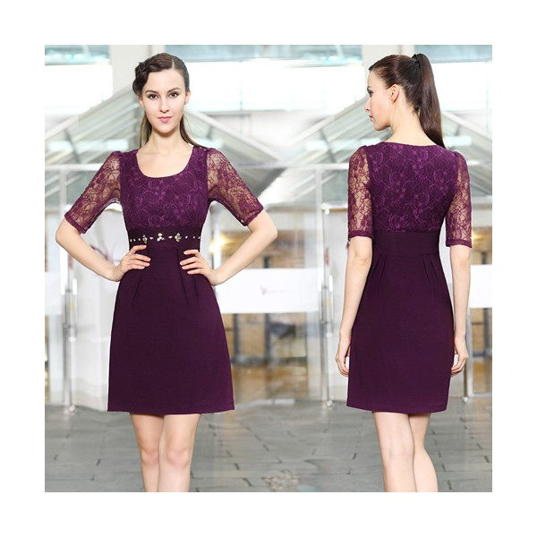 جدیدترین مدل تونیک با گیپور Casual Gowns with Sleeves_Other dresses_dressesss
