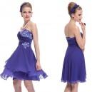 Safírově modré dámské společenské šaty Ever Pretty 3969