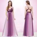 Sexy pruhované dámské společenské, letní šaty 9735 - fialové