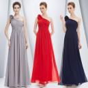 Nebesky jemné společenské šaty Ever Pretty na jedno květinové ramínko 8237 - 13 barev