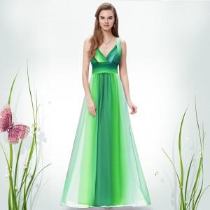 Sexy pruhované dámské společenské, letní šaty 9735 - zelené