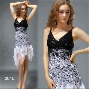 Úchvatné volánkové krajkové společenské dámské šaty Ever Pretty 0045 - černé