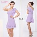 Kouzelné růžové, žluté, lila společenské, večerní letní krátké šaty Ever Pretty 3645
