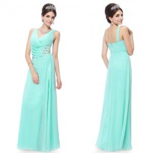 Nebesky svůdné společenské, jemně modré dámské šaty Ever Pretty 9963
