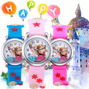 Dětské, dívčí, silikonové hodinky frozen - Elsa a Anna
