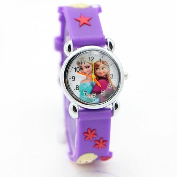 240afc000 Dětské, dívčí, silikonové hodinky frozen - Elsa a Anna - Angel fashion