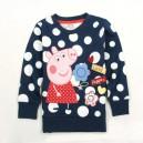 Dětské dívčí tričko s dlouhým rukávem tmavě modré Peppa pig