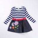 Dětské dívčí tričko, tunika s dlouhým rukávem a džinovou sukní