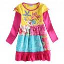 Dětské dívčí šaty, tunika s dlouhým rukávem barevná be free