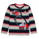 Dětské chlapecké tričko, triko s dlouhým rukávem proužkové s auty