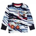 Dětské chlapecké tričko, triko s dlouhým rukávem s traktorem