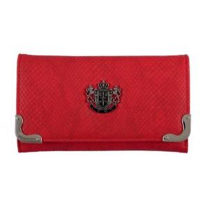Módní dámská kožená peněženka Lydc London hadí kůže - červená