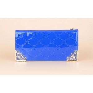 Elegantní dámská peněženka se zlatými okraji - modrá