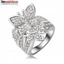 Dámský stříbrný prsten motýlci - stříbrný