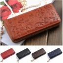 Elegantní dámská kožená peněženka s ornamenty - 4 barvy