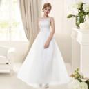 Dámské bílé společenské či svatební šaty 8447