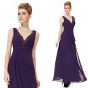 Okouzlující dámské šaty s kamínky v dekoltu 8103 - tmavě fialové