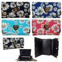 Módní dámská peněženka Lydc Anna Smith se srdíčkem a kopretinou - 4 barvy