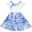 Dětské, dívčí letní šaty bílo modré