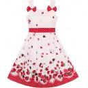 Dětské, dívčí letní šaty bílé s jahodami
