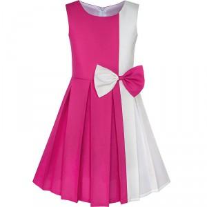 Dětské, dívčí společenské šaty s mašlí - více barev