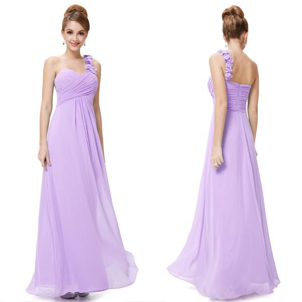 2cc1e0beb3 ... Nebesky jemné společenské šaty Ever Pretty na jedno květinové ramínko  9768 - 12 barev ...