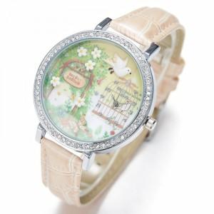 Dámské, dívčí kožené 3D hodinky -  GREEN GARDEN